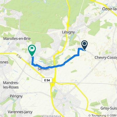 Itinéraire facile en Santeny