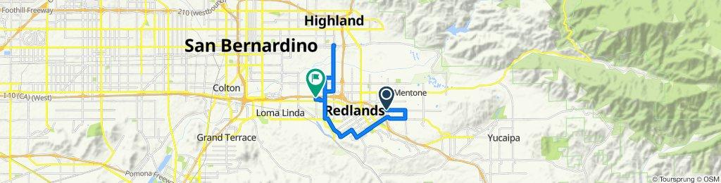 1365 E Citrus Ave, Redlands to California St, Redlands