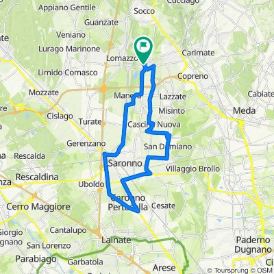 Da Via della Campora 4, Bregnano a Via della Campora 4c, Bregnano