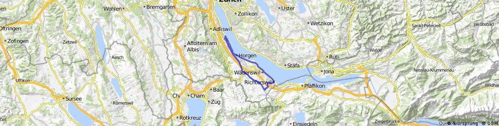 Thalwil - Richterswil - Samstagern - Thalwil