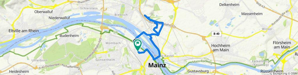 Mozartstraße 5, Mainz to Kreyßigstraße 8, Mainz