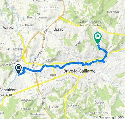 Route from 542B Rue de Laumeuil, Saint-Pantaléon-de-Larche