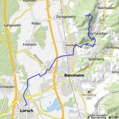 Lorsch - Melibokus über Fürstenlager 1