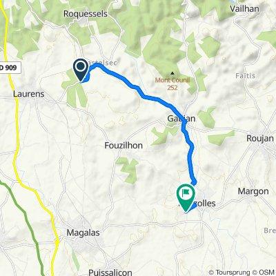 Itinéraire à grande vitesse en Pouzolles