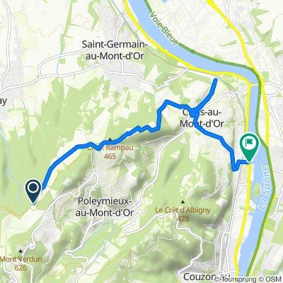 Route stable en Albigny-sur-Saône