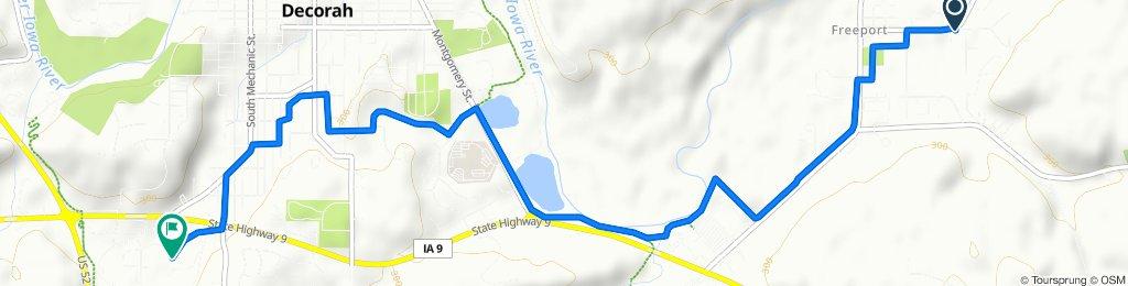 Moderate route in Decorah