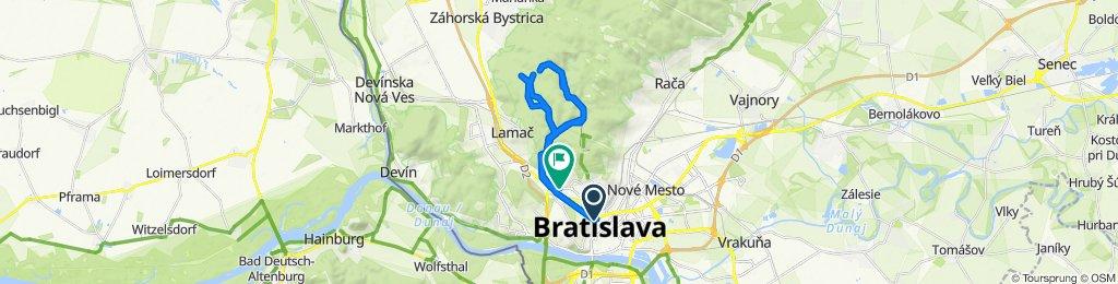 Štefánikova 7133/24A, Bratislava to Limbová 22, Bratislava