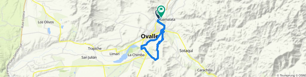 Route from Autopista La Serena - Ovalle, Ovalle