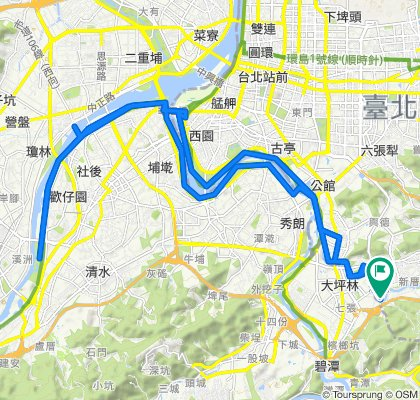 Route to 樟新街, 文山區