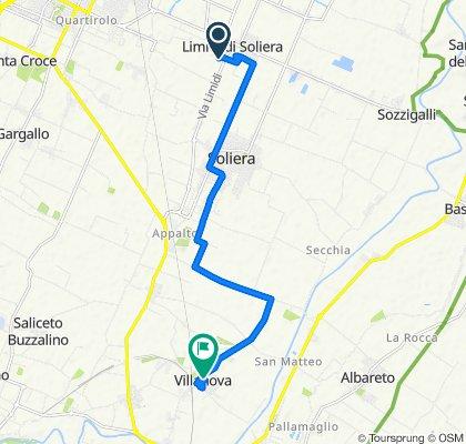 Giro a velocità costante in Villanova
