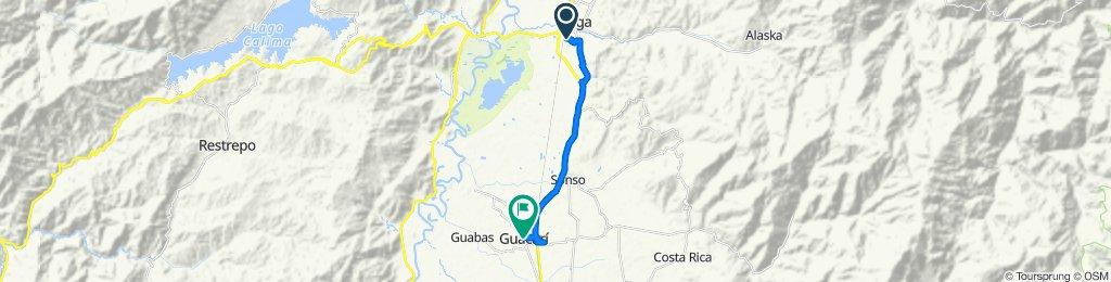 Route to Carrera 8 3-1–3-99, El Cerrito