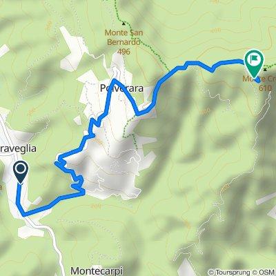 Route from Via Valgraveglia 68, Graveglia