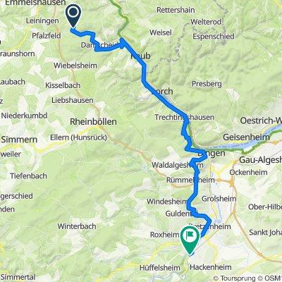Rhein, Nahe, Hunsrück Tag 1