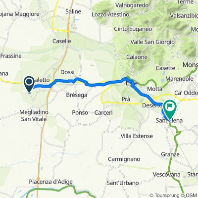 Da Via Vivaldi 10, Megliadino San Fidenzio a Via Papa Luciani 15, Sant'Elena