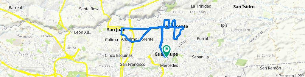 De Parada Parque de Guadalupe a Parada Parque de Guadalupe