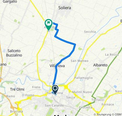 Via Ernesto Maranesi 11, Modena to Via Appalto 64, Appalto