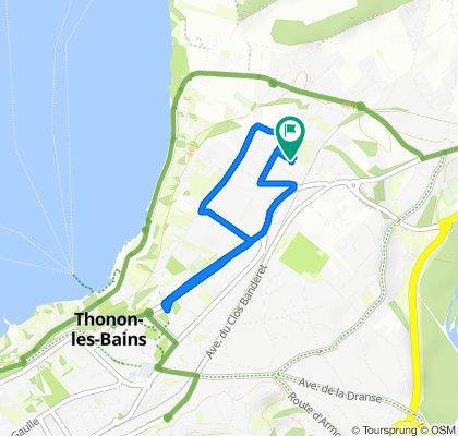 Itinéraire modéré en Thonon-les-Bains