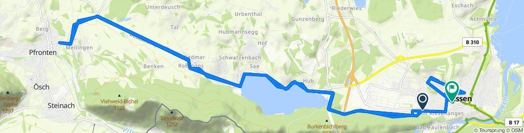 Birkstraße 2, Füssen to Von-Freyberg-Straße 13 1/2, Füssen