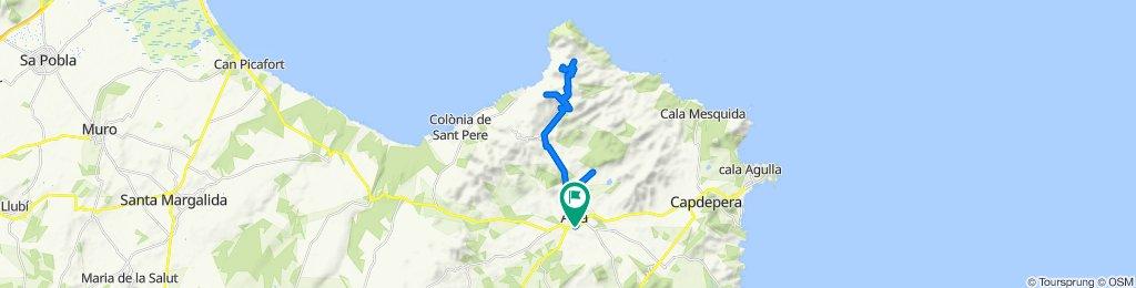 Mallorca en bici+a peu: Artà-els Olors-sa Talaia Freda-puig de sa Tudossa-camí d'en Mondoi-Artà