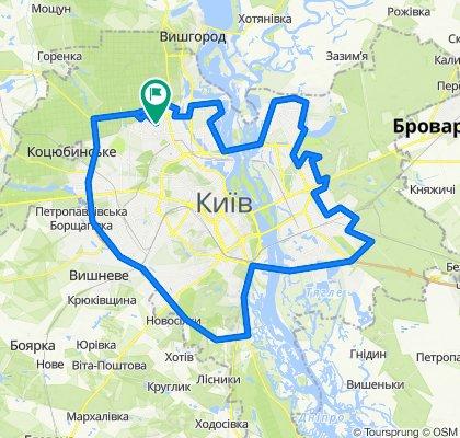Киев в кольце(только асфальт)
