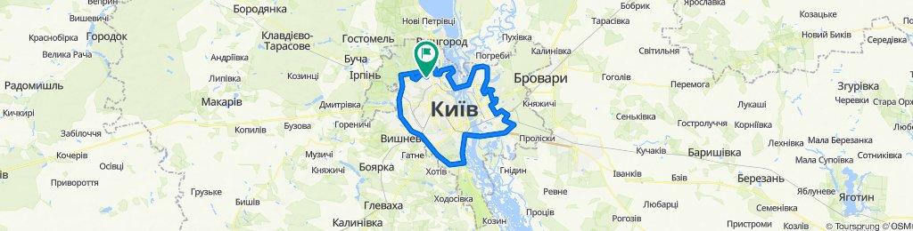 Киев в кольце (асфальт)