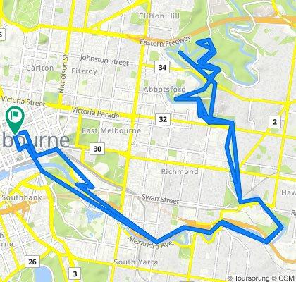 Little Bourke Street 344, Melbourne to Elizabeth Street 221, Melbourne