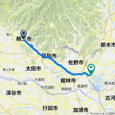 一般県道桐生足利藤岡自転車道線(渡良瀬川自転車道)