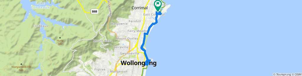 Easy ride in East Corrimal