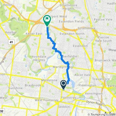 Kinnear Street, Footscray to 192 Rachelle Road, Keilor East