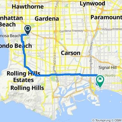 4160 W 182nd St, Torrance to 600–614 E Malta Way, Long Beach