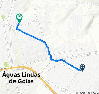 Quadra 27, 7, Águas Lindas de Goiás to Quadra 8, 3, Águas Lindas de Goiás