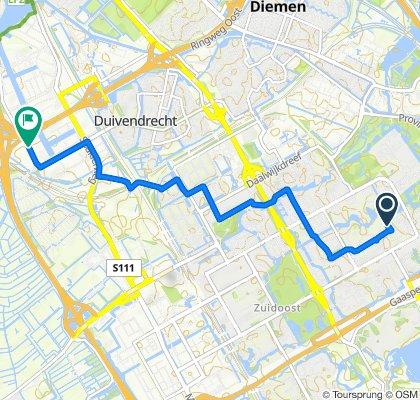 Kleiburg, Amsterdam to Joan Muyskenweg 41, Amsterdam-Duivendrecht