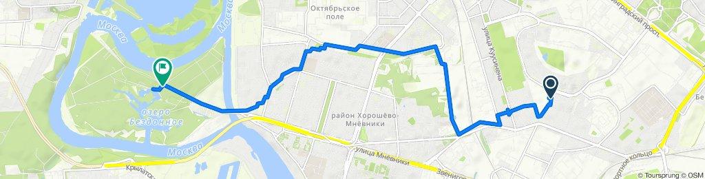 От улица Полины Осипенко 22 корпус 4, Москва до Таманская улица 67, Москва