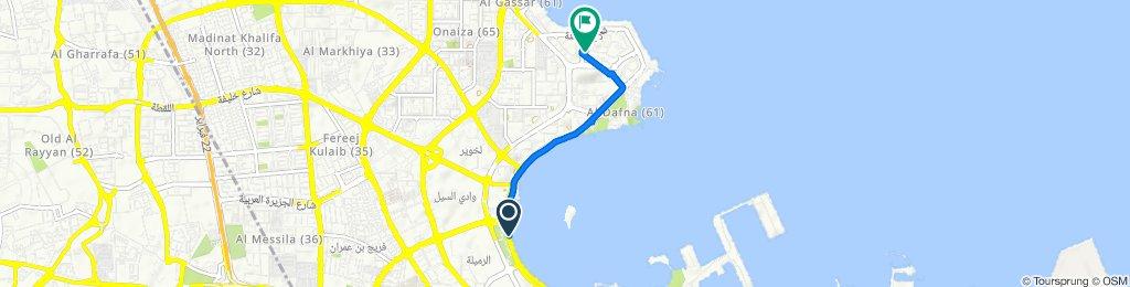 Al Corniche Street, Doha to Aba Almsan - Blumsan Street, Doha