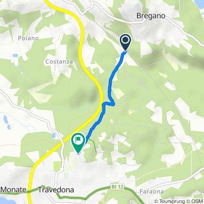 Route to Via Don Luigi Sturzo 1, Travedona-Monate