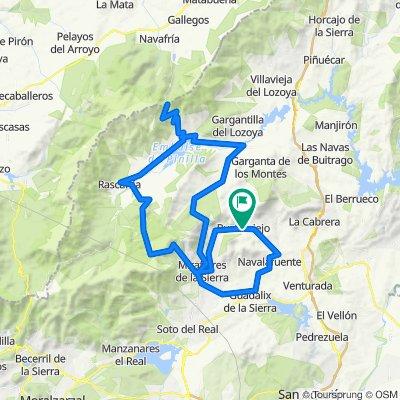 La Resalá - Guadalix - Miraflores - Canencia - Lozoya - Navafría - Rascafría - Morcuera - La Resalá
