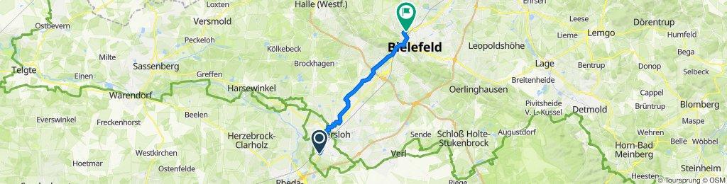 Auf'm Kampe 10, Gütersloh to Weststraße 79, Bielefeld
