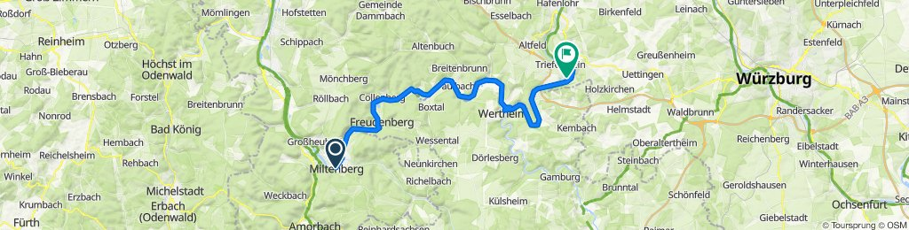 2. Tag - Miltenberg nach Triefenstein