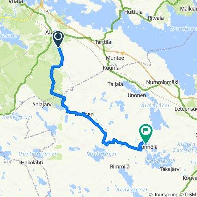 Lontilantie 166, Akaa to Rimmiläntie 712, Hämeenlinna
