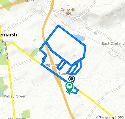 1601–1605 Church Rd, Oreland to 1510 Lucon Rd, Oreland