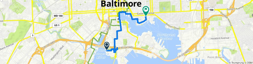 Slow ride in Baltimore