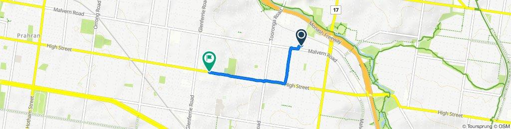 Osborne Avenue 42, Glen Iris to High Street 1255-1257, Malvern