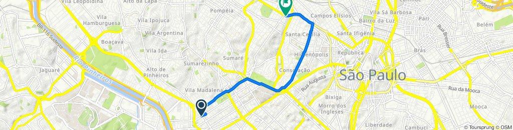 De Rua Cardeal Arcoverde 2194 a Avenida General Olímpio da Silveira 685