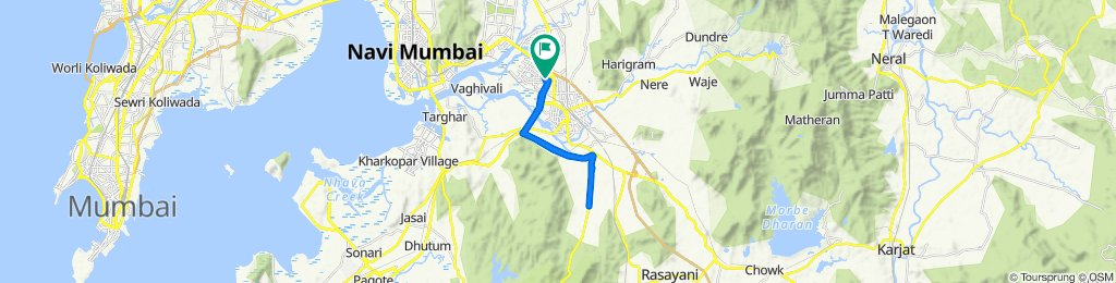 86, Sector 22 Road, Navi Mumbai to 87, Sector 22 Road, Navi Mumbai