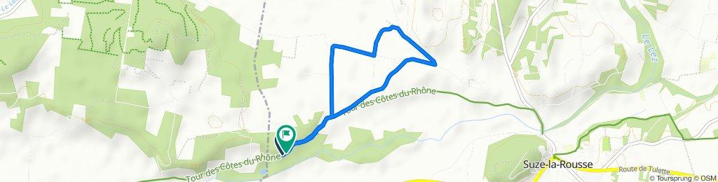Itinéraire facile en Suze-la-Rousse