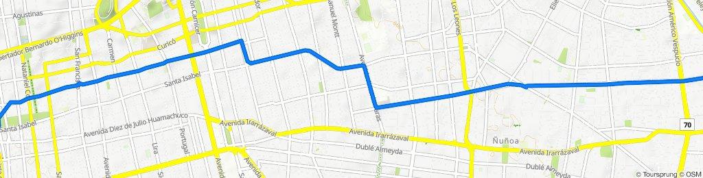 De Doctor Genaro Benavides 6362, La Reina a Avenida Ejército Libertador 557-591, Santiago