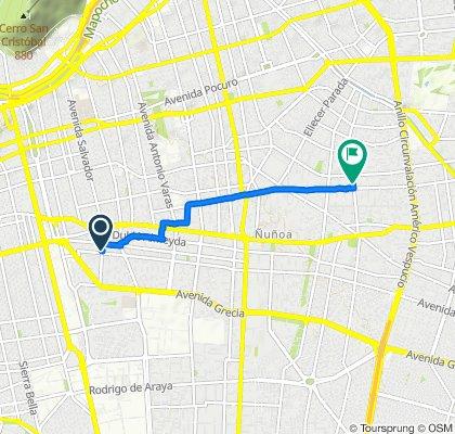 De Avenida Salvador 2567, Ñuñoa a Coventry 744, Ñuñoa