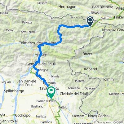 Tarvis - Udine 108 km