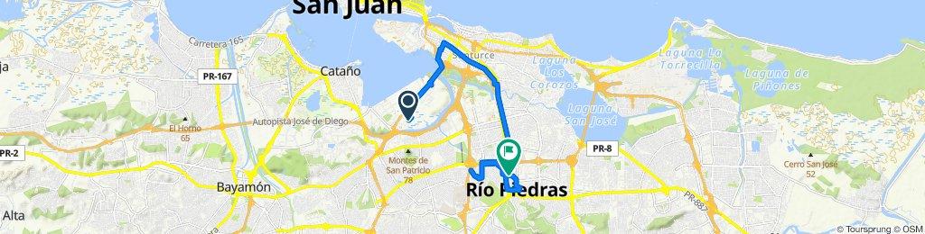 232–340 Calle San Luis, San Juan to 101–105 Avenida Universidad, San Juan