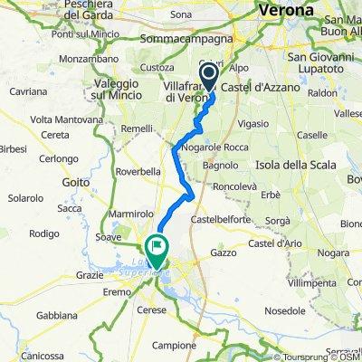 Via Milano 12–14, Povegliano Veronese to Piazza Sordello 39, Mantova